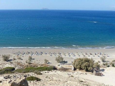 Sandstrand auf Kreta für Griechenland Urlaub